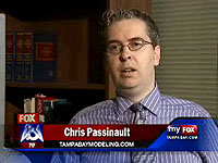 Our lead Tampa photographer, Chris Passinault, is the top Tampa Bay model and talent expert, and this is a link to his latest television interview on FOX 13 for his site, Tampa Bay Modeling.